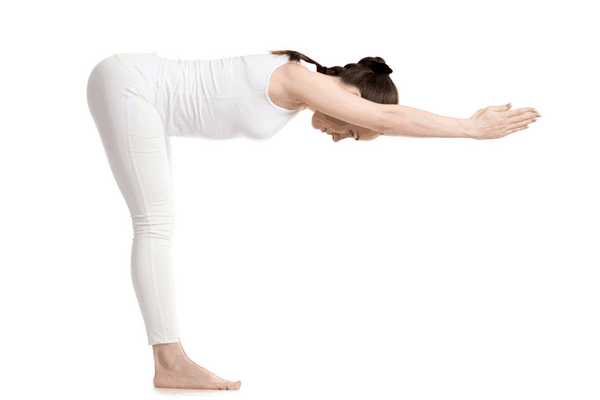 Standing Half Forward Bend yoga