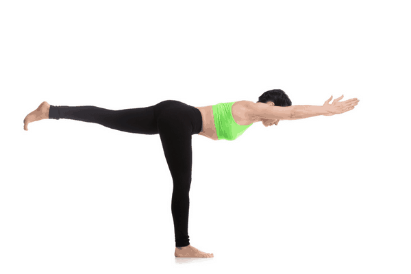 Warrior III yoga pose
