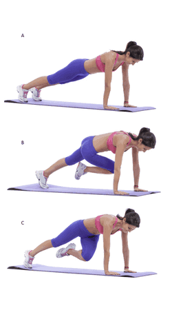 Side mountain climbers Exercise