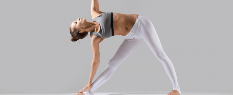 Extended triangle yoga pose