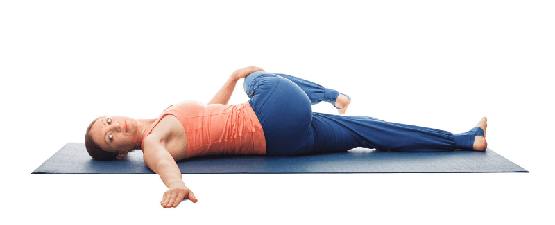 Reclined Supine Twist pose